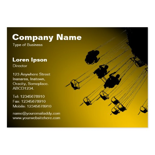 Swings and Roundabouts v2 - Spotlit Amber Business Card Templates