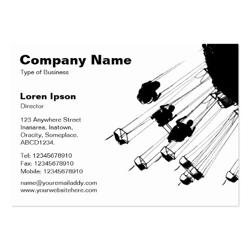 Swings and Roundabouts v2 - White Business Card Templates