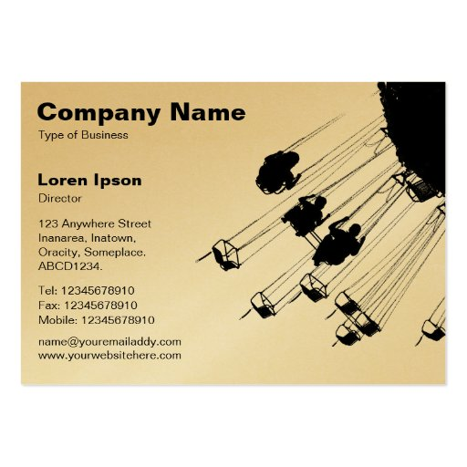 Swings and Roundabouts v2 - White (Gold) Business Card Templates