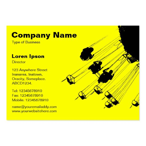 Swings and Roundabouts v2 - Yellow Business Card Template
