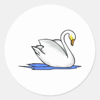 Swinna Swan Round Sticker