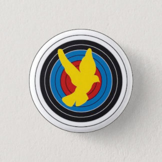 Swipes in Brought together Archers of Doves 3 Cm Round Badge