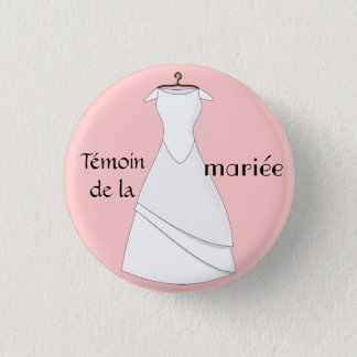 Swipes in pilot of the pink bride 3 cm round badge