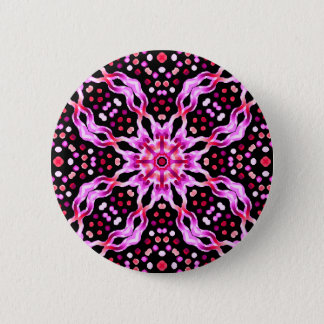 Swipes in Psychedelic Cellule Fractal 6 Cm Round Badge