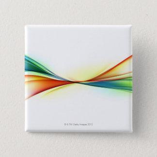 Swirl 15 Cm Square Badge