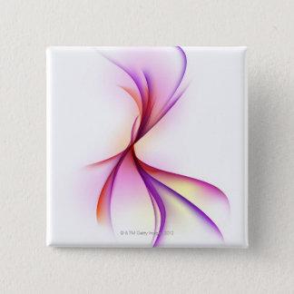 Swirl 2 15 cm square badge