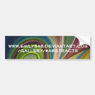 Swirl (2) bumper sticker