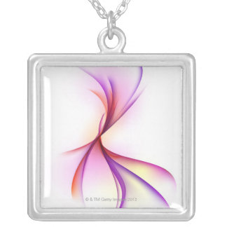 Swirl 2 silver plated necklace