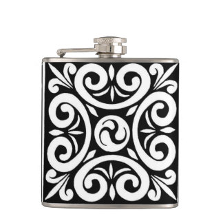 Swirl abstract hip flask