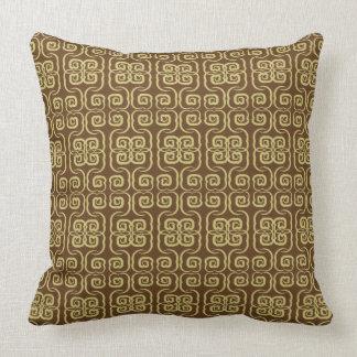 Swirl asian style pillow