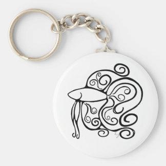Swirl Betta Fish Key Ring