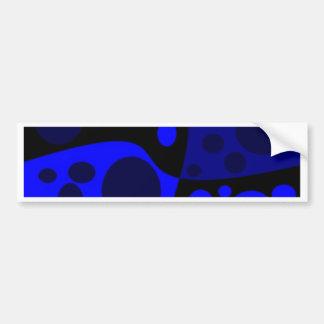 swirl blue bumper sticker