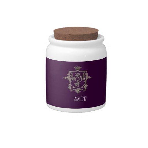 SWIRL CREST KITCHEN JARS CANDY DISHES