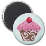 Swirl cupcake magnet