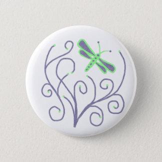 Swirl dragonfly button