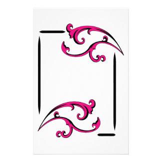 Swirl Frame Personalized Stationery
