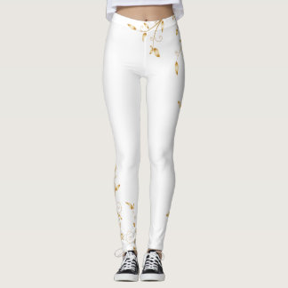 Swirl Gold Leggings