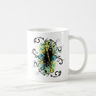 Swirl Grunge Clarinet Basic White Mug