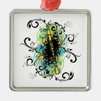 Swirl Grunge Clarinet Christmas Ornament