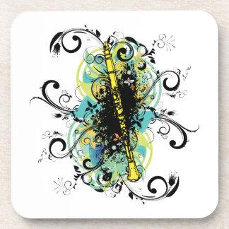 Swirl Grunge Clarinet Coaster