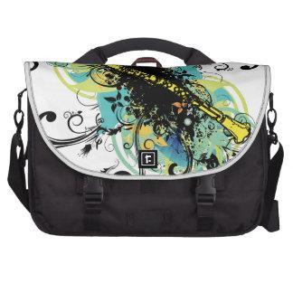 Swirl Grunge Clarinet Commuter Bags