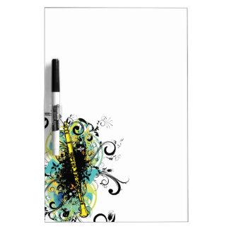 Swirl Grunge Clarinet Dry Erase Whiteboard