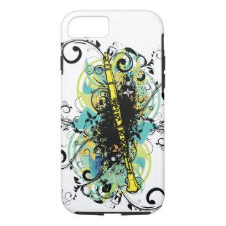 Swirl Grunge Clarinet iPhone 7 Case