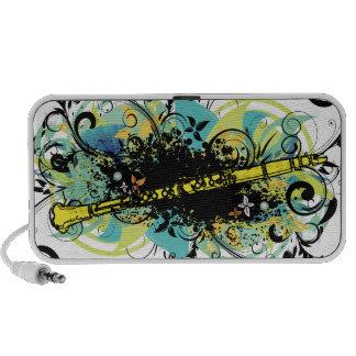 Swirl Grunge Clarinet iPod Speaker