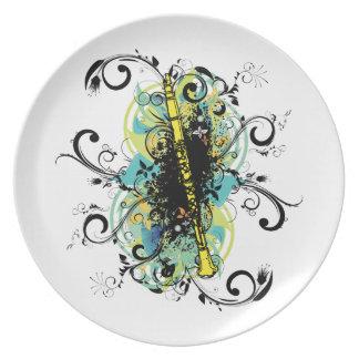 Swirl Grunge Clarinet Plates