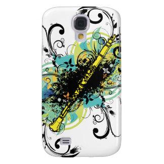Swirl Grunge Clarinet Samsung Galaxy S4 Covers
