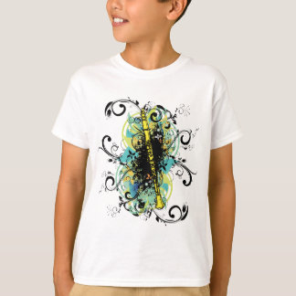 Swirl Grunge Clarinet T-shirts