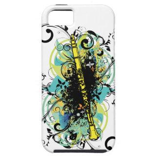 Swirl Grunge Clarinet Tough iPhone 5 Case