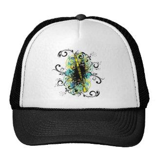 Swirl Grunge Clarinet Trucker Hats