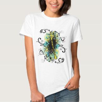 Swirl Grunge Clarinet Tshirts
