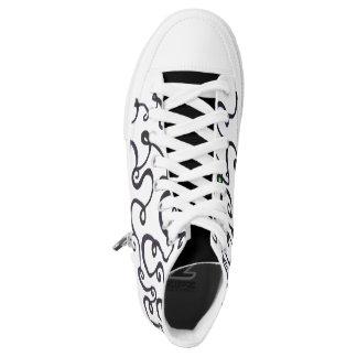 Swirl High Tops Printed Shoes