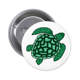 Swirl Honu Sea turtle button