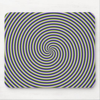 Swirl in Green Blue and Violet Mouse Pad