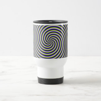 Swirl in Green Blue and Violet Stainless Steel Travel Mug