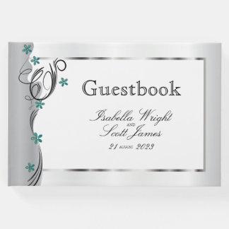 Swirl Jade Floral Design  - Guestbook