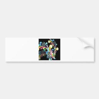 Swirl mania bumper sticker