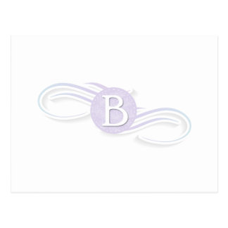 Swirl Monogram B Postcard