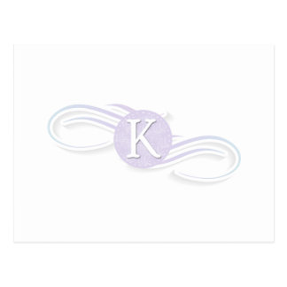 Swirl Monogram K Post Cards