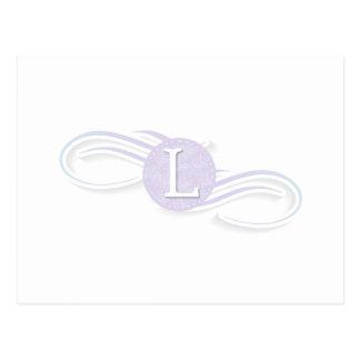 Swirl Monogram L Postcard
