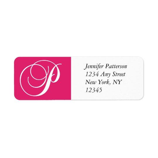 Swirl Monogram P Return Address Labels