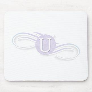 Swirl Monogram U Mouse Pad