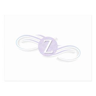 Swirl Monogram Z Postcard