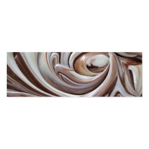 swirl of chocolate bookmark business card templates