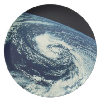 Swirl of Clouds over the Earth Plate