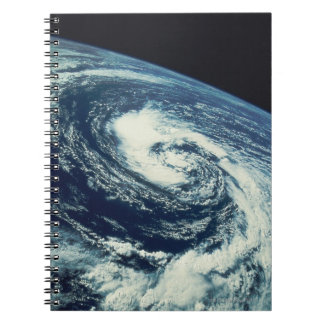 Swirl of Clouds over the Earth Spiral Note Book