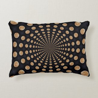 Swirl of Many Moons Accent Pillow